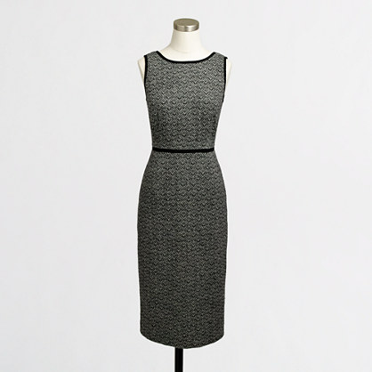 Factory tweed chevron-stripe dress