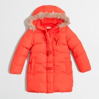 Factory kids' hooded toggle puffer