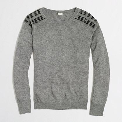 Factory warmspun jeweled sweater