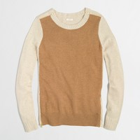 Factory warmspun colorblock zip sweater