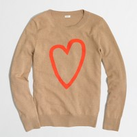 Factory intarsia heart sweater