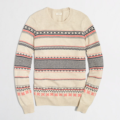 Factory warmspun Fair Isle sweater