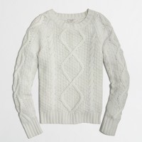 Factory cable-knit sweater