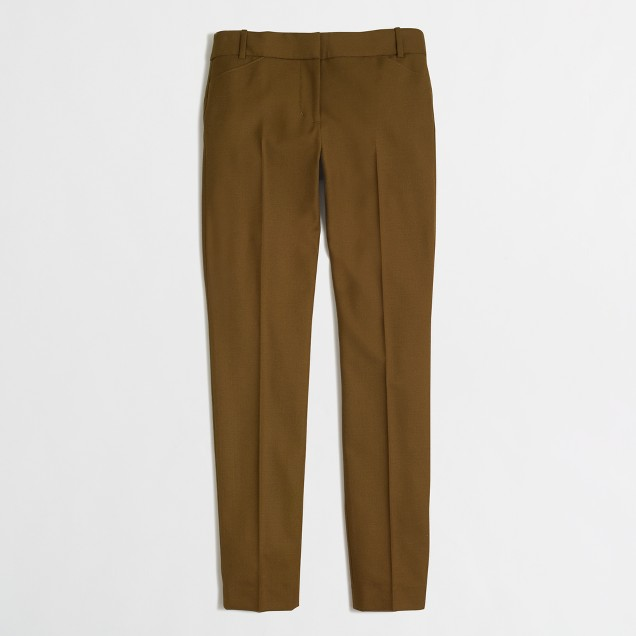 Slim stretch wool pant