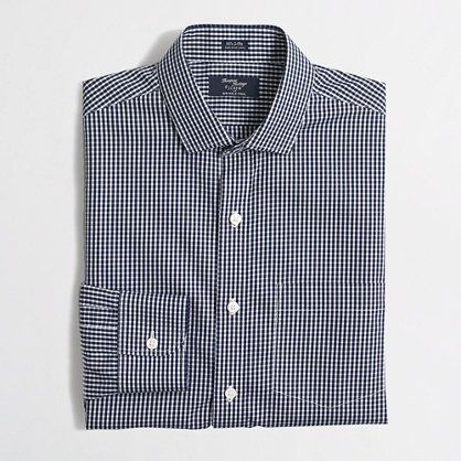 Factory wrinkle free voyager dress shirt in mini check Best wrinkle free dress shirts