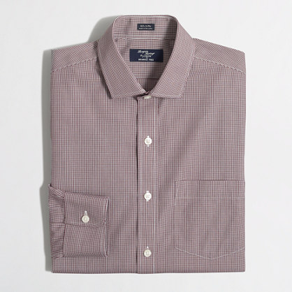 Tall wrinkle-free Voyager dress shirt in mini-check
