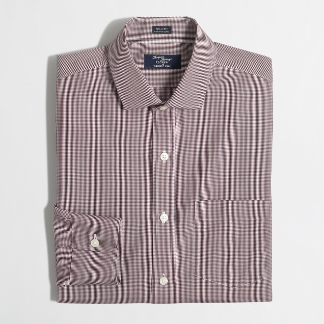 Wrinkle-free Voyager dress shirt in mini-check