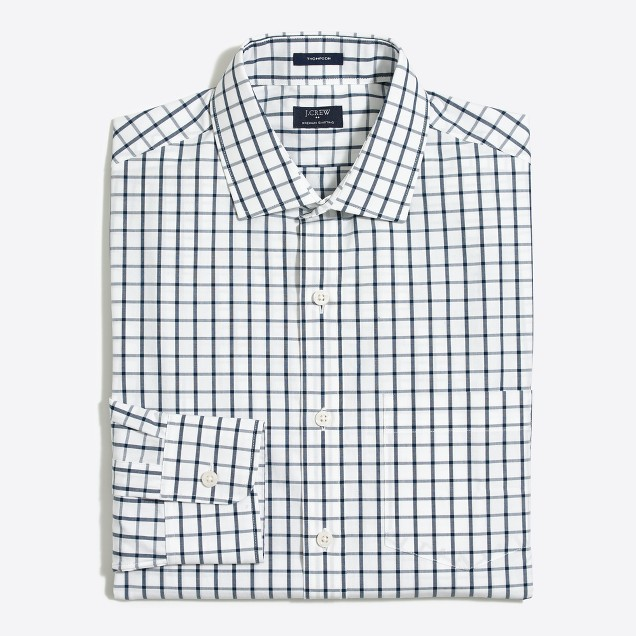 Thompson dress shirt in open grid