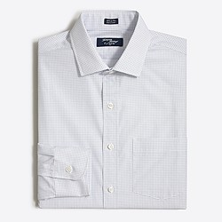 Thompson spread-collar dress shirt in open grid