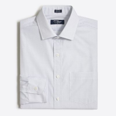 Thompson dress shirt in open grid factorymen slim c