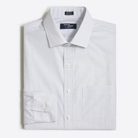 Tall Thompson spread-collar dress shirt in open grid