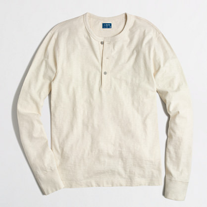 Textured cotton henley