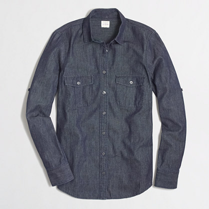 Factory petite chambray shirt