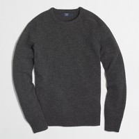 Factory Slim lambswool crewneck sweater