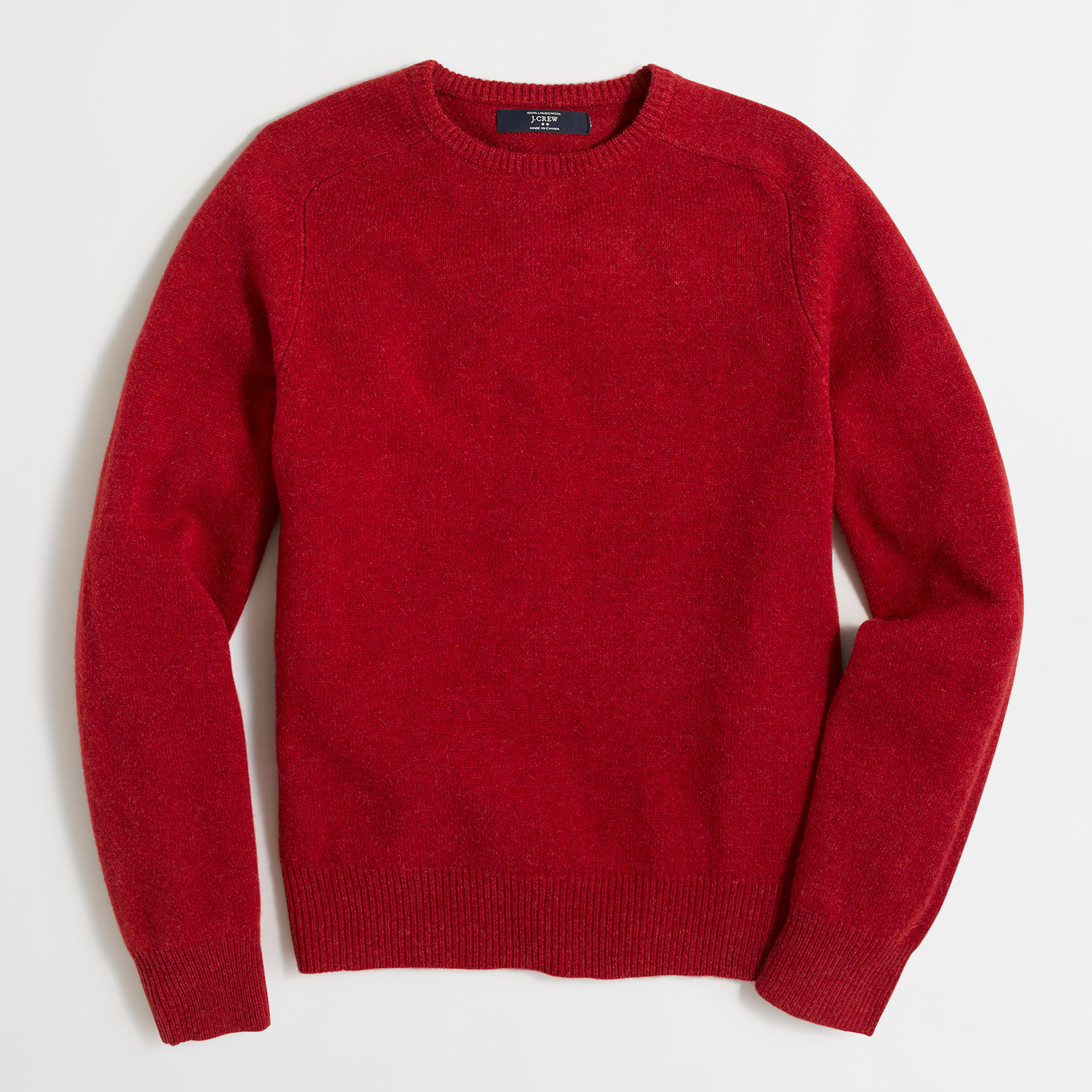 This lambswool sweater is knit using heavy-gauge yarns. What does that mean? It means that the yarns are thicker than normal and the sweater has a textured .