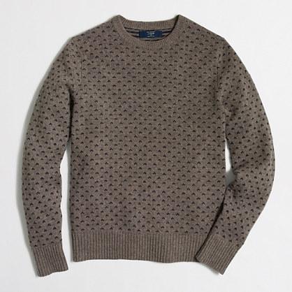 Tall lambswool chevron-dot sweater