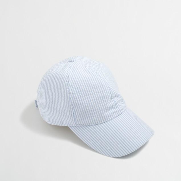 Factory seersucker baseball cap