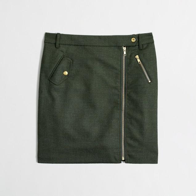 Factory zip mini in wool