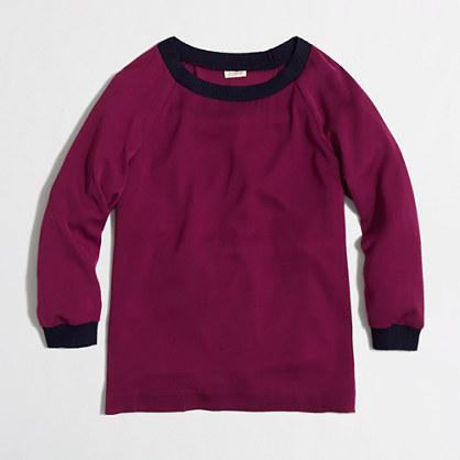 Factory drapey sweatshirt