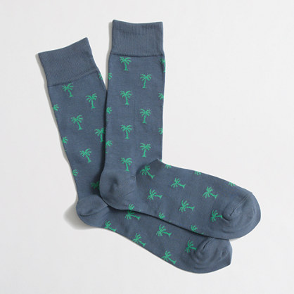 Factory palm tree socks
