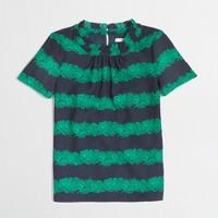 Factory printed ruffle-collar top