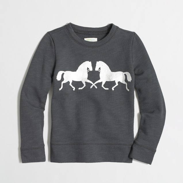 Factory girls' horse sweatshirt