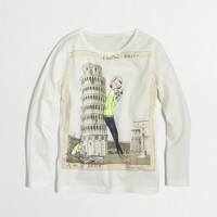 Factory girls' long-sleeve French girl keepsake tee