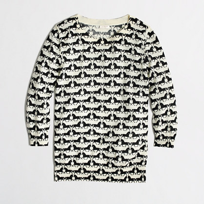 Factory Charley sweater in horses