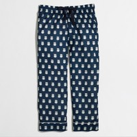 Factory cropped SLEEP pant in owls