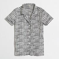 Factory short-sleeve pajama shirt in hearts