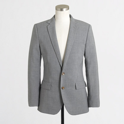 Factory Thompson suit jacket with double vent in lightweight wool ...