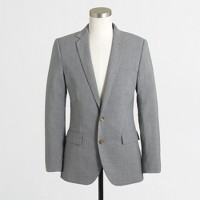 Factory Thompson suit jacket with double vent in lightweight wool