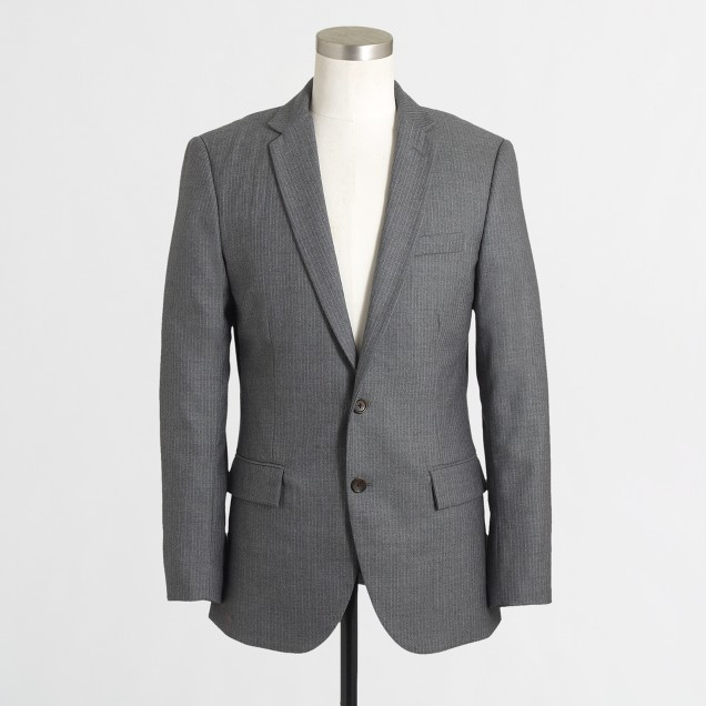 Thompson suit jacket in pinstripe wool
