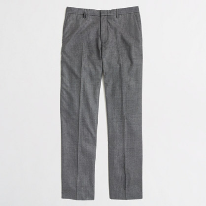 Thompson suit pant in pinstripe wool