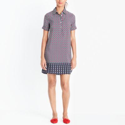 Short-sleeve printed shirtdress factorywomen dresses c