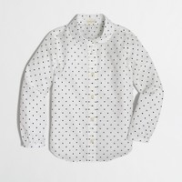 Factory girls' Peter Pan collar shirt in polka dots
