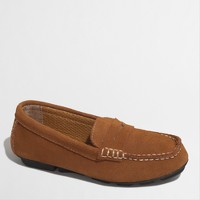 Factory boys' suede penny loafers
