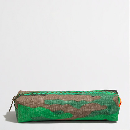 Factory boys' camo pencil case