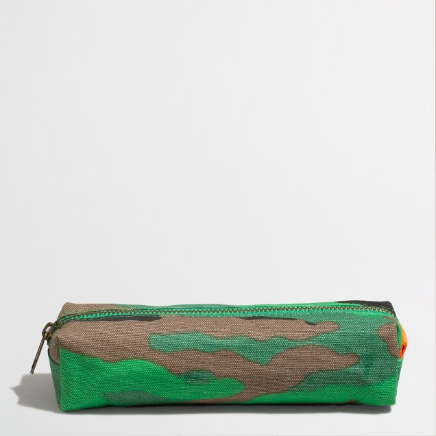 Factory boys' camo pencil case