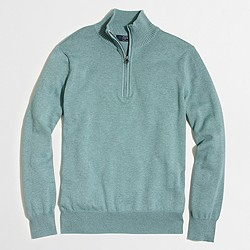Factory half-zip cotton sweater