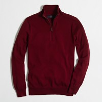 Tall half-zip cotton sweater