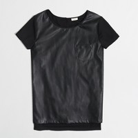 Factory drapey leather-panel tee