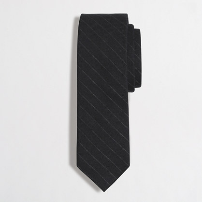 Brushed twill tie
