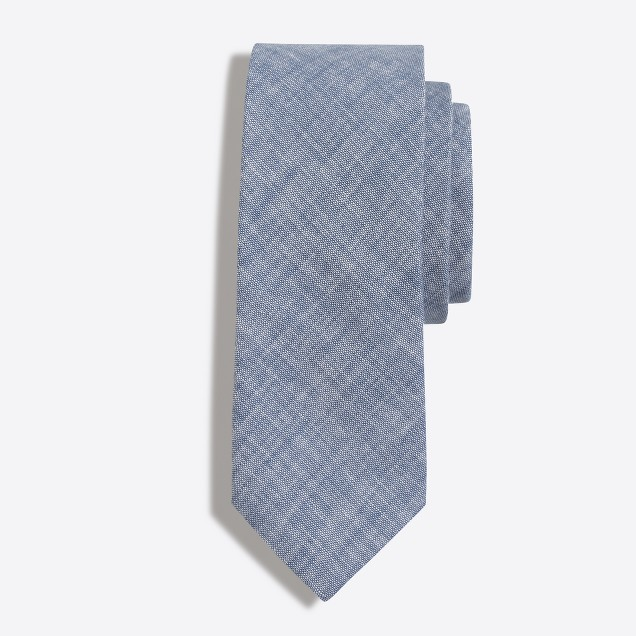 Faded chambray tie