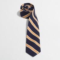 Factory wool wide-stripe tie