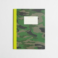 Factory kids' camo notebook