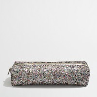 Factory girls' glitter pencil case