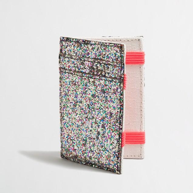 Factory girls' glitter magic wallet