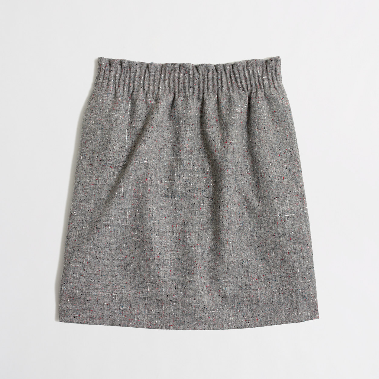 Pleated Wool Mini Skirt - Skirts