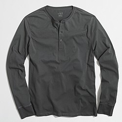 Jersey cotton henley